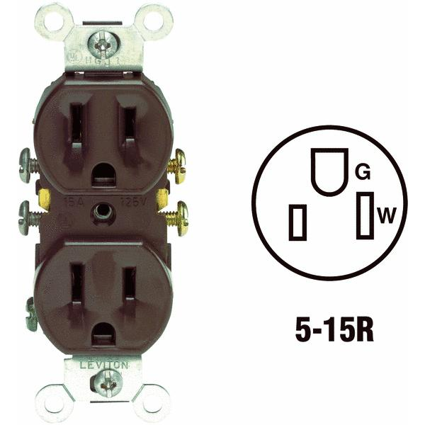Leviton Shallow Grounded Duplex Outlet