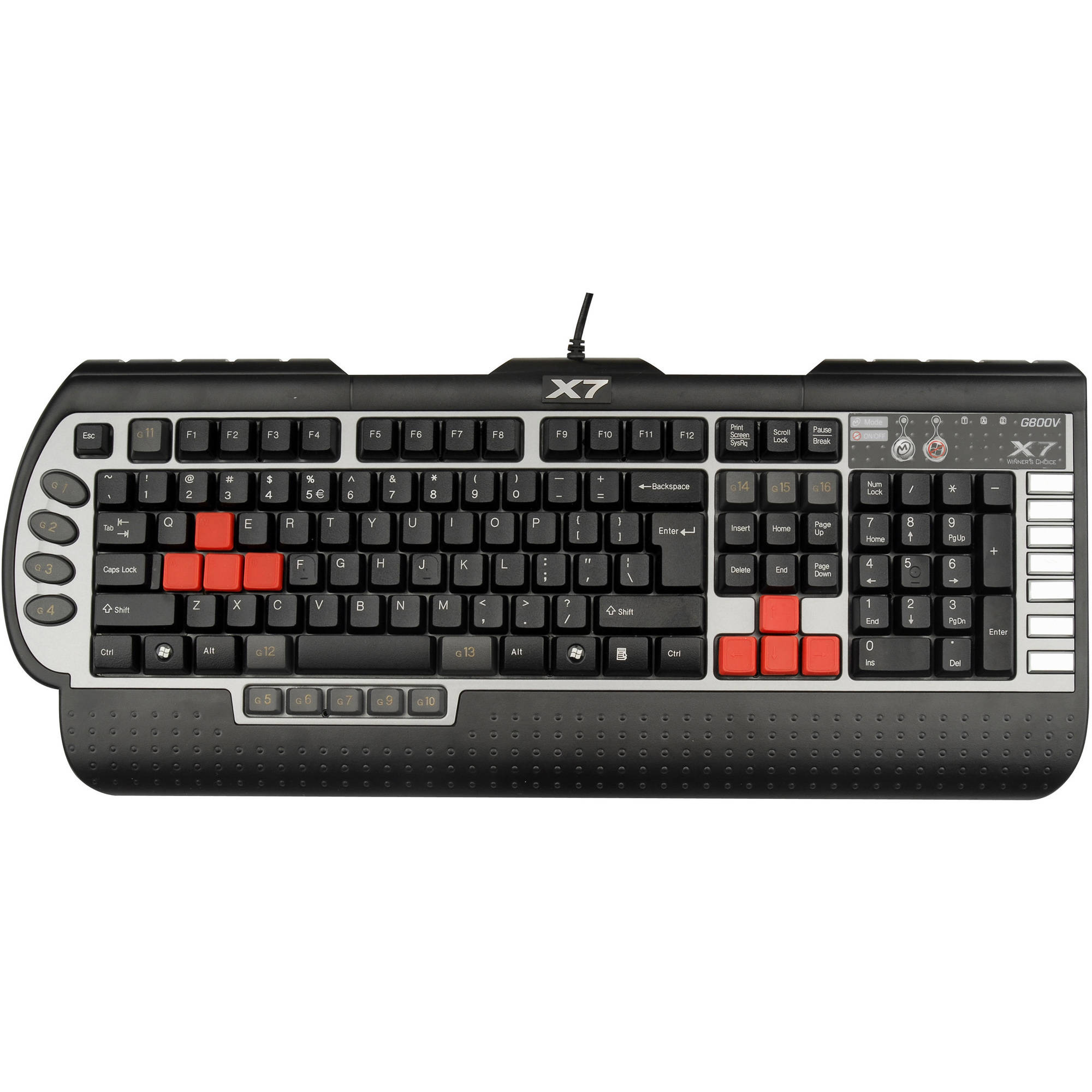 X7 G800V Gaming Keyboard Black