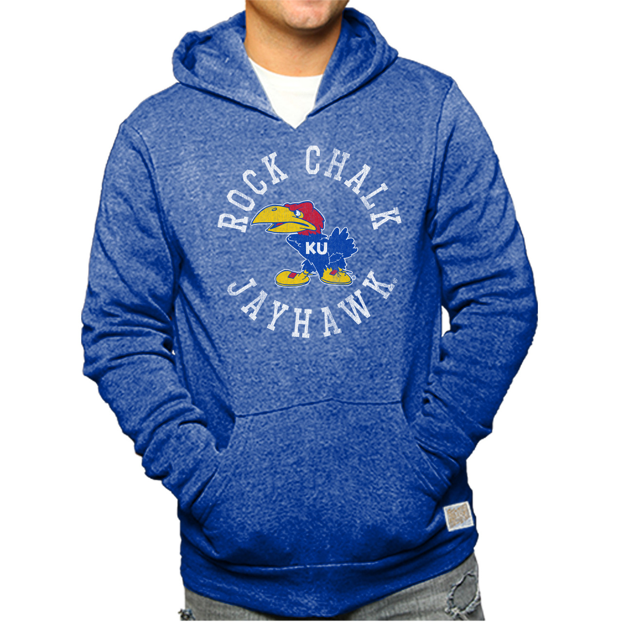 b616172a9 Kansas Jayhawks Youth Vintage Logo Hooded Sweatshirt - Royal - Walmart.com