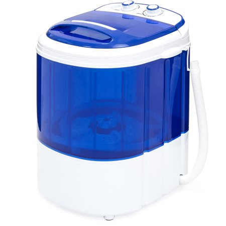 Best Choice Products Portable Compact Mini Single Tub Washing Machine with Hose, Blue