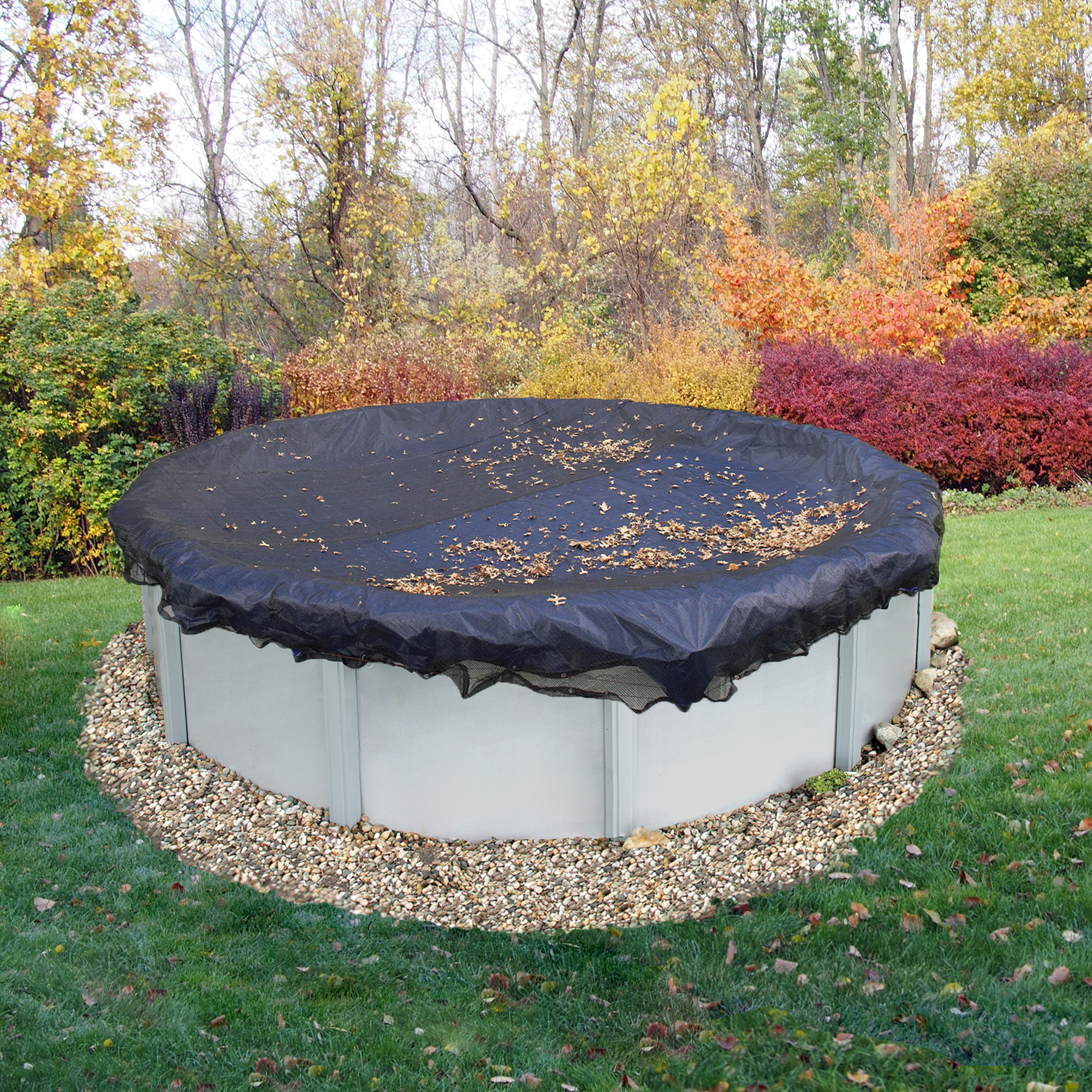 Blue Wave 24-ft Round Leaf Net Above Ground Pool Cover
