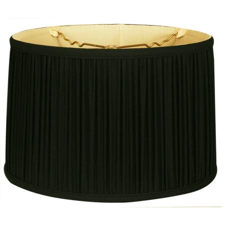 royal designs 18 shallow drum gather pleat lamp shade. Black Bedroom Furniture Sets. Home Design Ideas