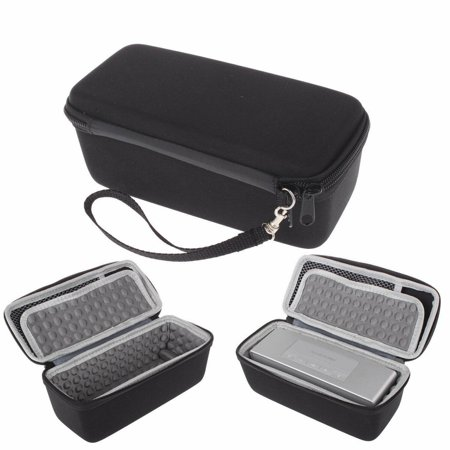 EEEKit 2 in 1 Kit for boses Soundlink Mini Speaker, Protective Hard Travel Carrying Case + Soft Cover, Black (Music Book Carrying Case)