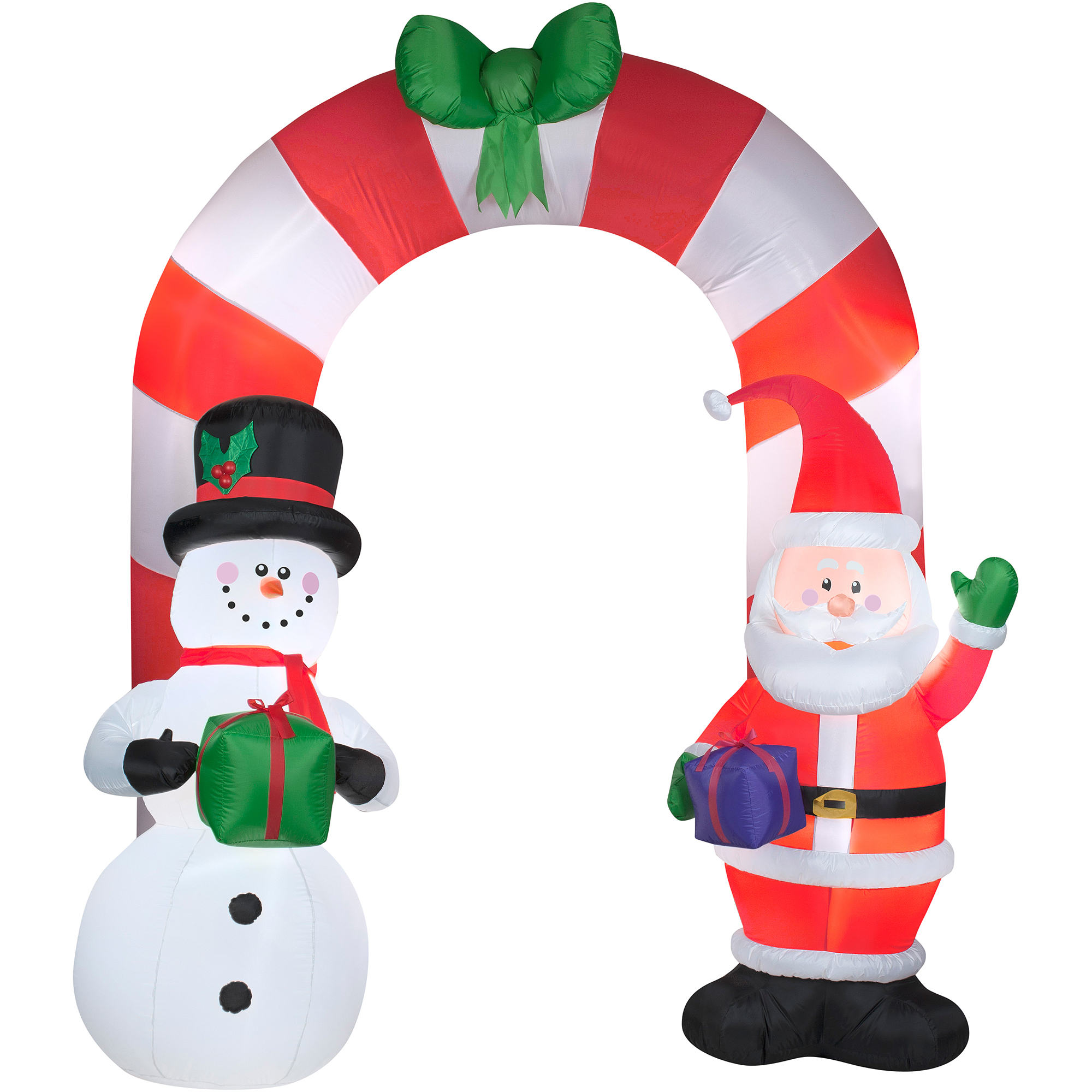 9\' Archway Santa Airblown Inflatable Christmas Prop - Walmart.com