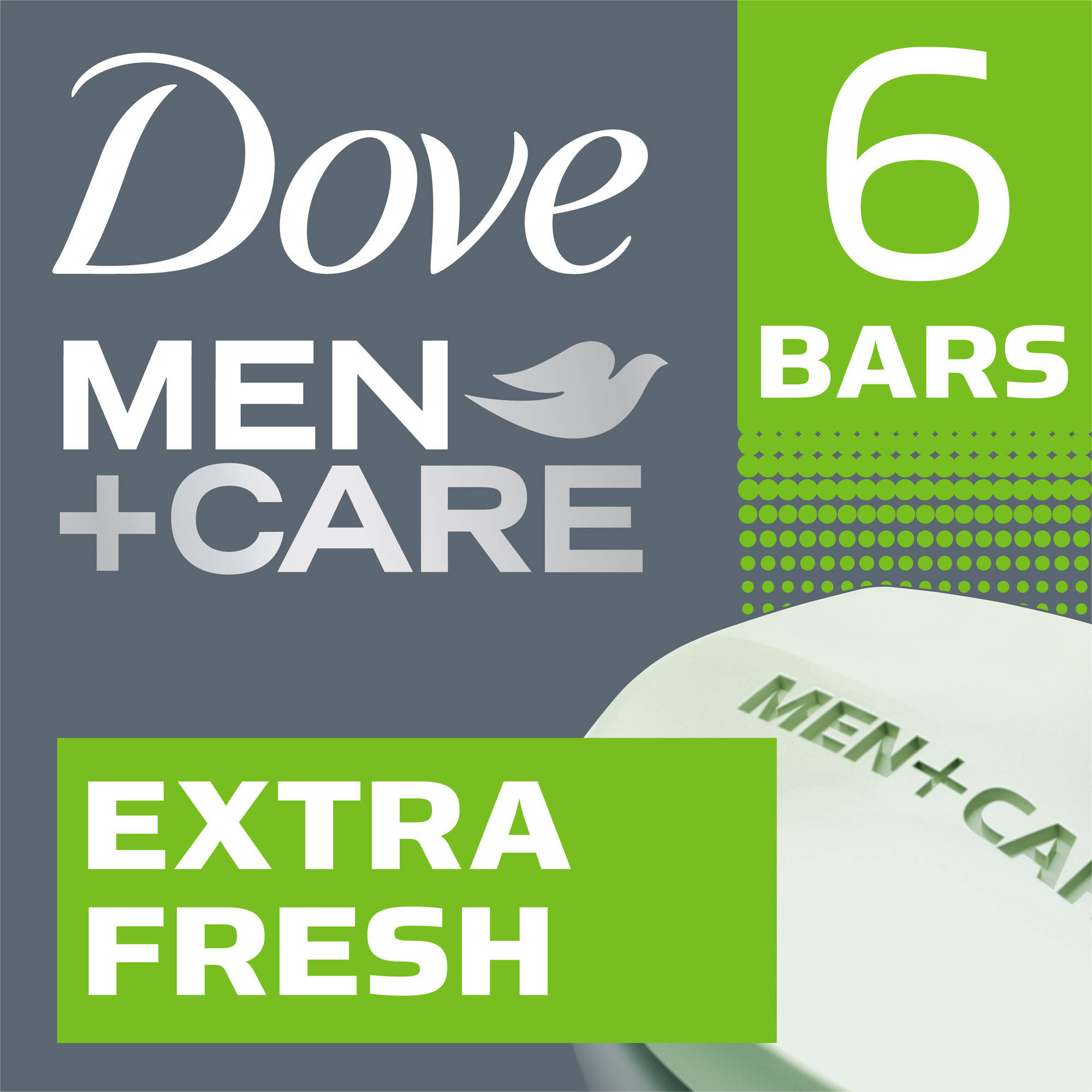 Dove Men+Care Extra Fresh Body and Face Bar, 4 oz, 6 Bar
