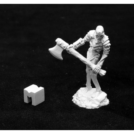 Reaper Miniatures Bog Skeleton with Great Axe #03943 Dark Heaven Unpainted Metal