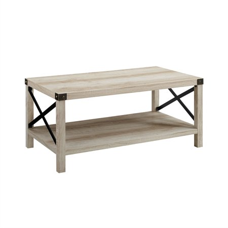 Metal Oak Coffee Table - 40