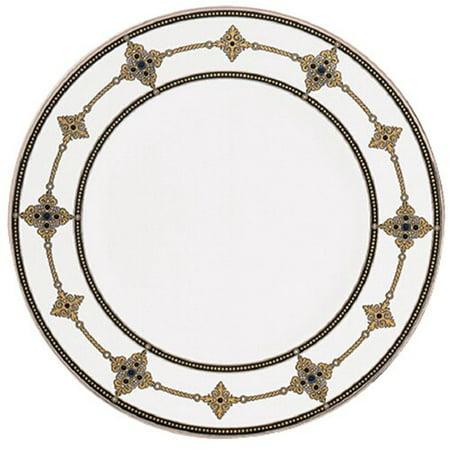 Lenox Vintage Jewel Platinum Banded Bone China 9 Accent Plate (Lenox Vintage Jewel)