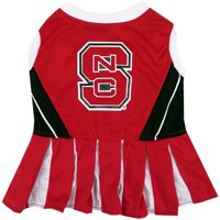Pets First College NC State Wolfpack Cheerleader, 3 Sizes Pet Dress Available. Licensed Dog Outfit