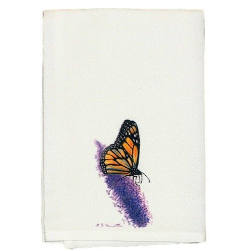 Betsy Drake Interiors Butterfly Monarch Hand Towel (Set of 2)