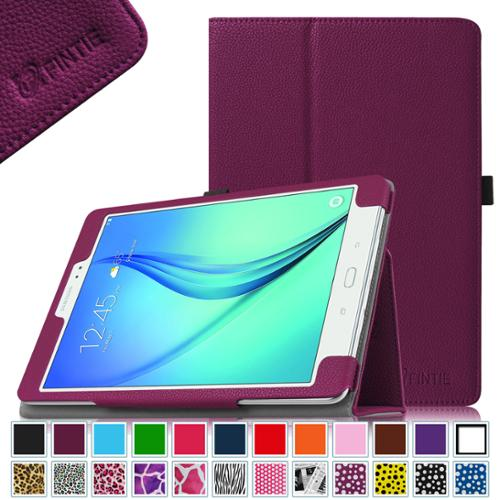 Fintie Samsung Galaxy Tab A 9.7 Tablet SM-T550 SM-P550 Case - Folio Stand Cover with Auto Sleep/Wake, Purple