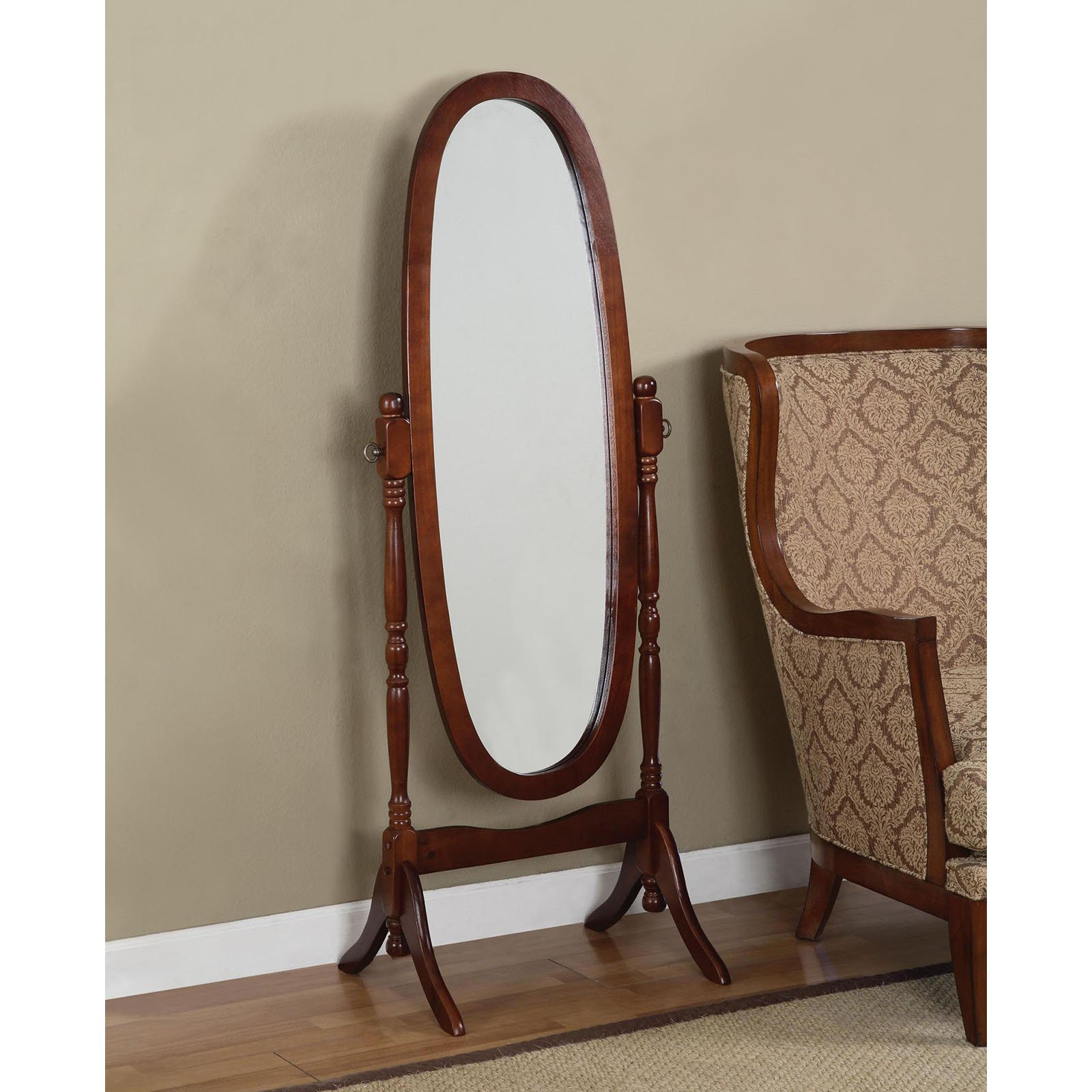 Powell Cherry Cheval Floor Mirror
