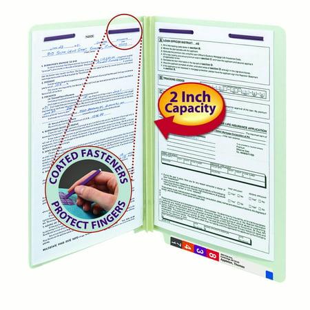 - Smead End Tab Pressboard Fastener File Folder with SafeSHIELD Fastener, 2 Fasteners, 2