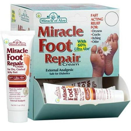 Miracle of Aloe 40129 La réparation des pieds, Aloe Crème Pieds, réparation de talon, pieds crevassés, Miracle Pied réparation
