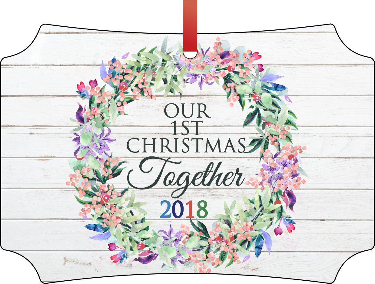 Ornament Newlyweds Our 1st Christmas Together 2018 Double ...