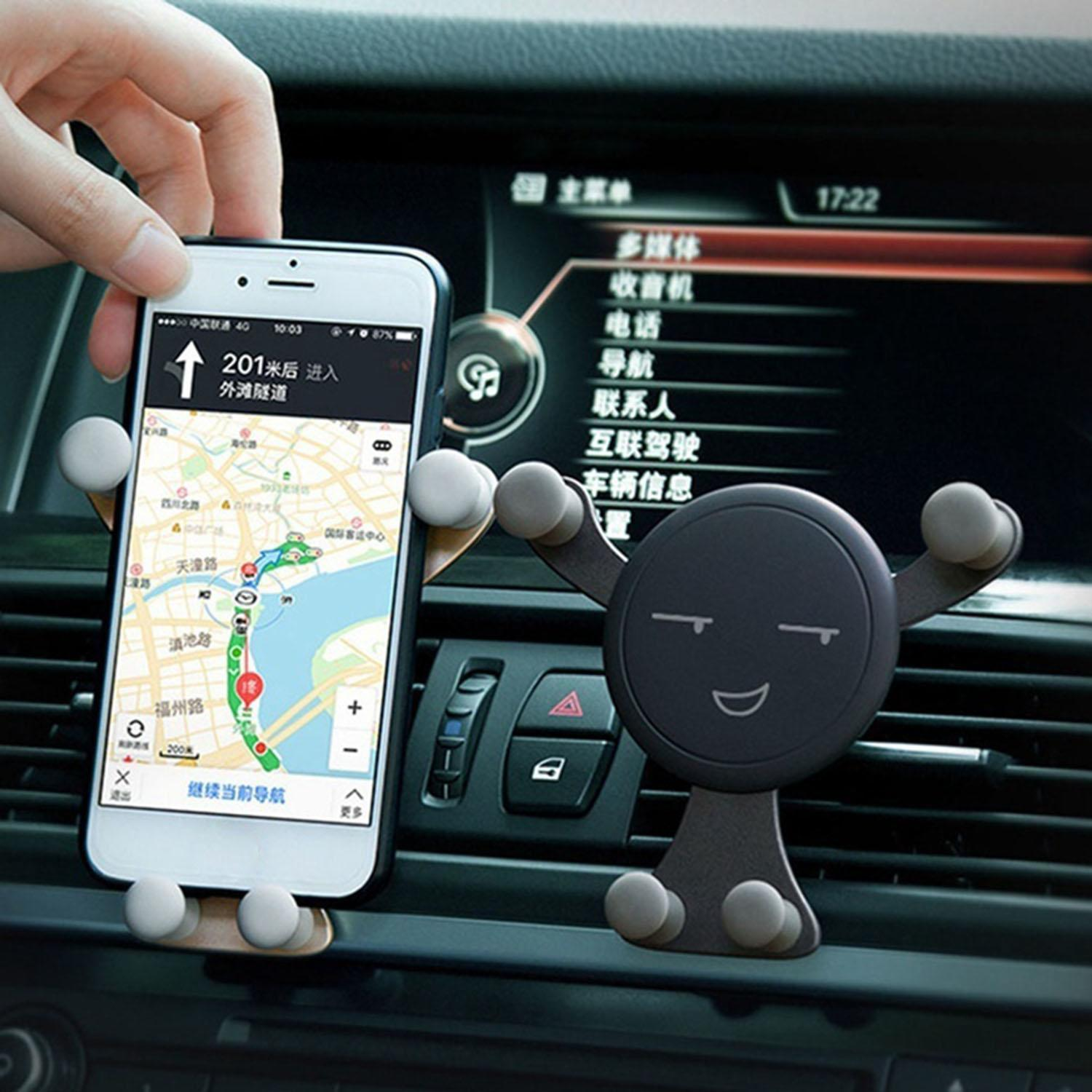 Useful Car Mobile Phone Stand Gravity Stand Mini Cute Cartoon Phone Holder CCGE