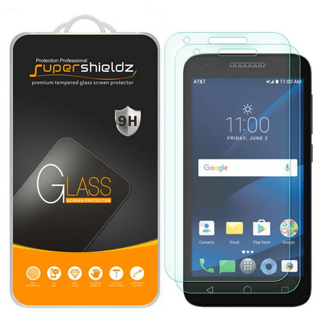 [2-Pack] Supershieldz for Alcatel Raven LTE Tempered Glass Screen Protector, Anti-Scratch, Anti-Fingerprint, Bubble Free for $<!---->