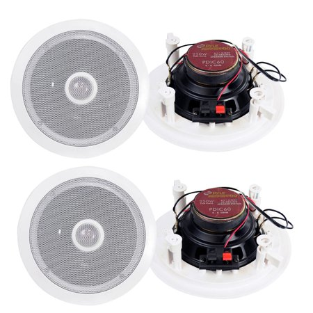 Two Way Speaker System - 4) New Pyle 6.5