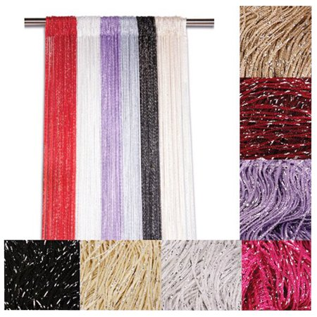 Glitter String Curtain Panels ~ Fly Screen & Room Divider ~ Voile Net Curtains ()