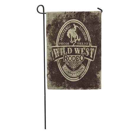 SIDONKU Cowboy Wild West Rodeo Vintage for Boy Wear Effect in Separate Layers Western Garden Flag Decorative Flag House Banner 12x18 inch