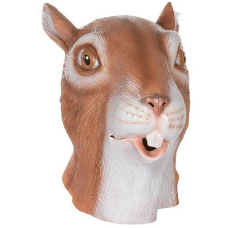 Allures and Illusions Giant Squirrel Head Costume Mask Halloween Accessory - Giant Head Mask Halloween