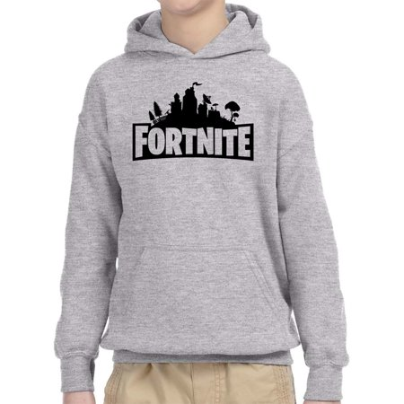 fe6ad3de4 New Way - New Way 879 - Youth Hoodie Fortnite Battle Royale Skyline ...