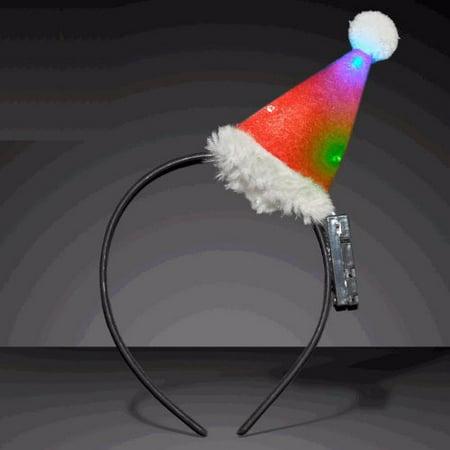 Flashing Santa Hats (Flashing Mini Santa Hat)