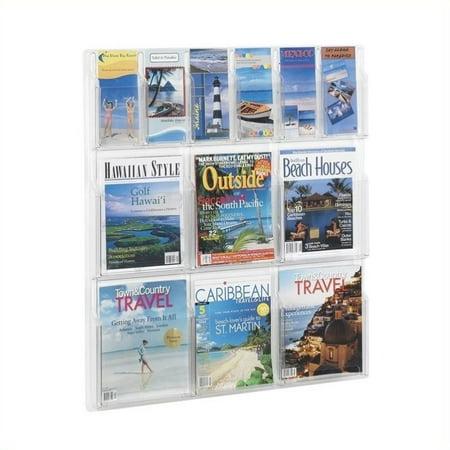 Safco 5606CL, d-pliant 6 et 6 magazines, affichage en transparence - image 2 de 2