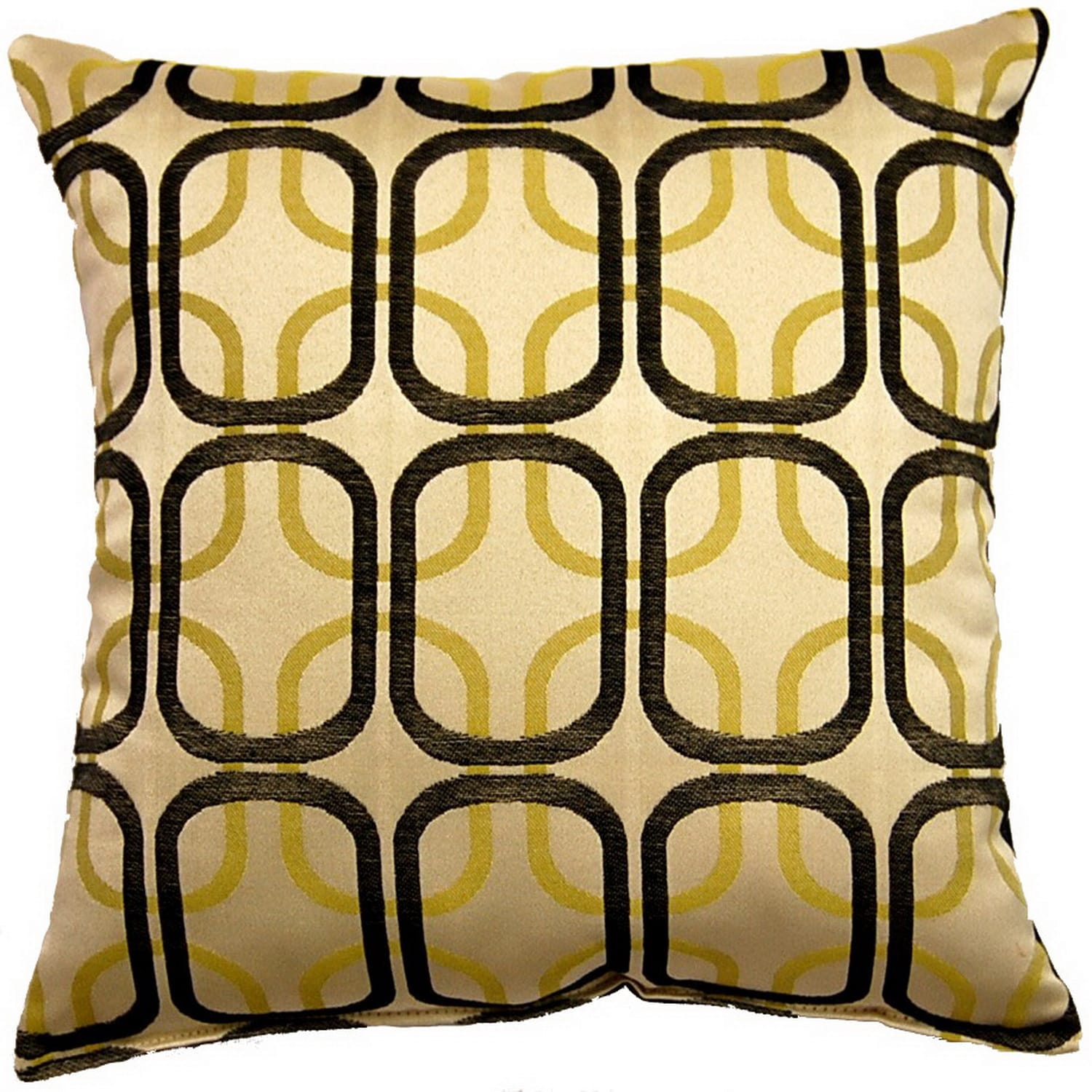 Fox Hill Trading Linked Black 17-inch Throw Pillows (Set of 2)