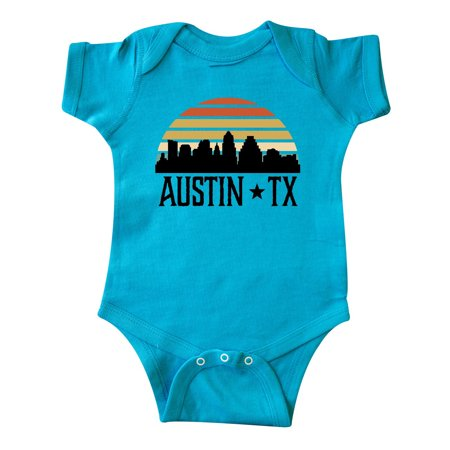 Austin Texas Skyline Vintage Infant Creeper