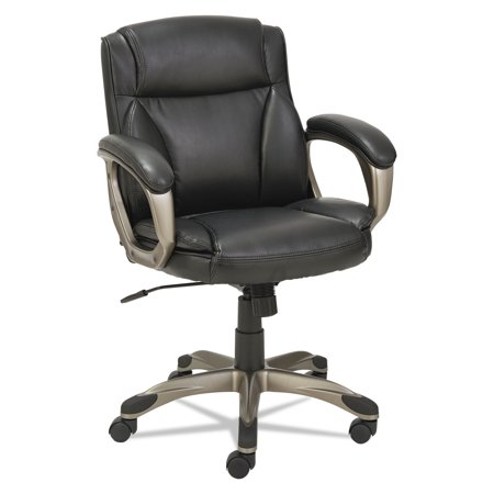Alera Veon Series Low-Back Leather Task Chair with Coil Spring Cushioning, Black Back Spring Club Chair Cushion