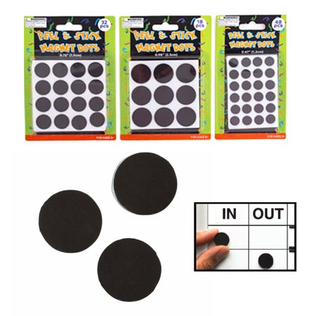 98 Pc Peel Stick Self Adhesive Magnet Dot Round Assorted Sizes Art Craft School](Self Adhesive Magnets)