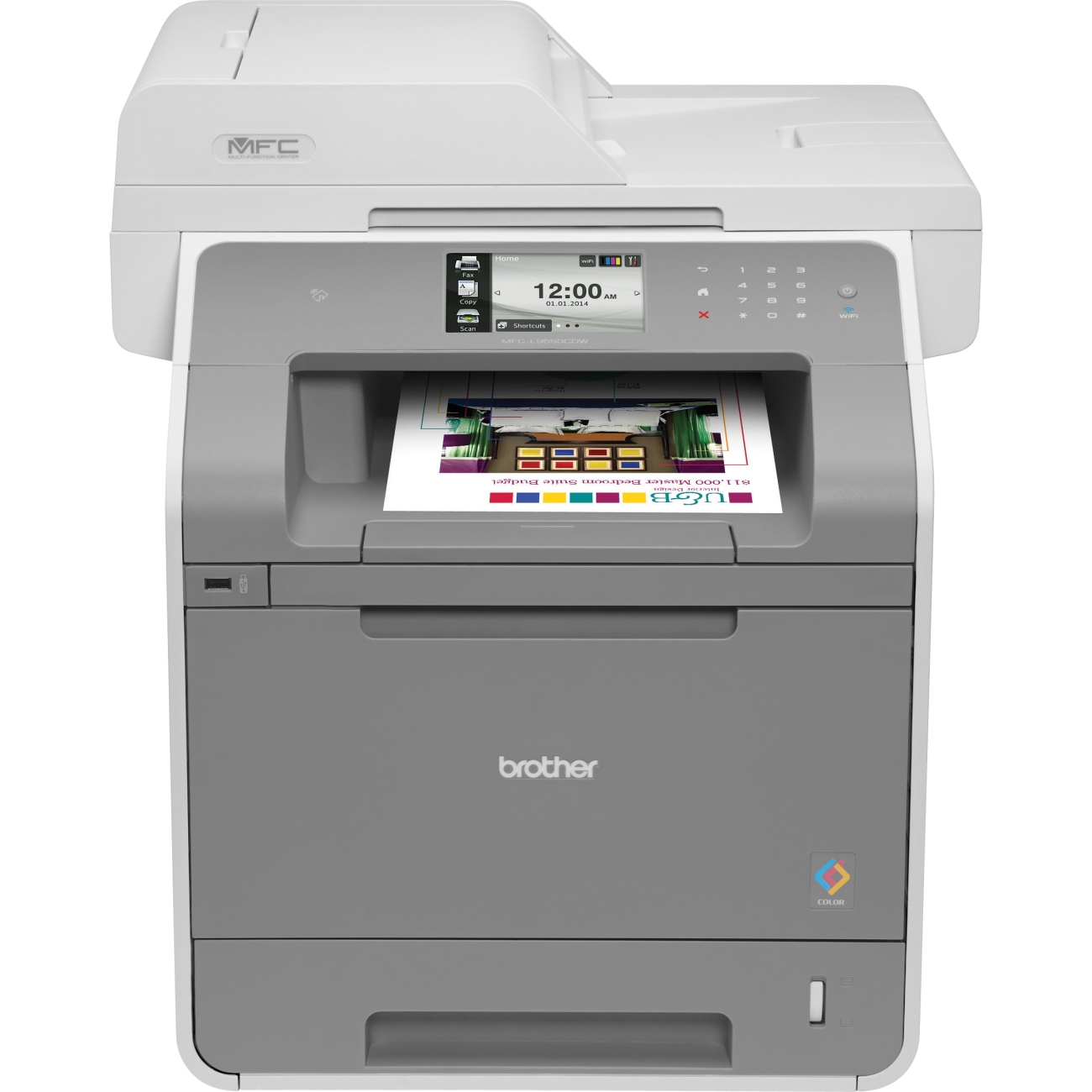 Brother Mfc-l9550cdw Laser Multifunction Printer - Color - Plain Paper Print - Desktop - Copier/fax/printer/scanner - 32 Ppm Mono/32 Ppm Color Print - 2400 X 600 Dpi Print - 32 Cpm (mfc-l9550cdw)
