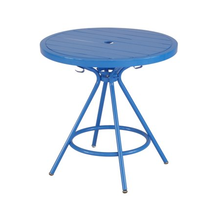 CoGo™ Steel Outdoor/Indoor Table, Round, 30u0022, Blue