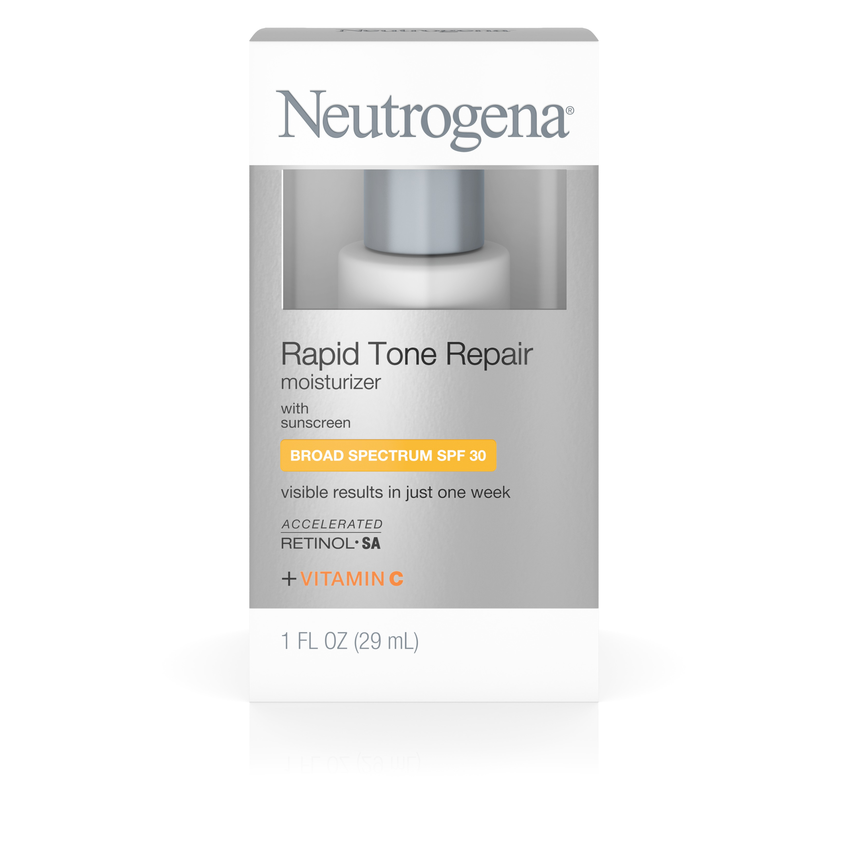 Neutrogena Rapid Tone Repair Moisturizer With Retinol, Broad Spectrum Spf 30 Sunscreen,  Travel Size 1 Fl. Oz. - Walmart.com