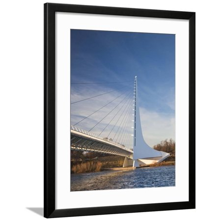 Architect Santiago Calatrava, Sundial Bridge, Turtle Bay Park, Redding, California, Usa Framed Print Wall Art By Walter