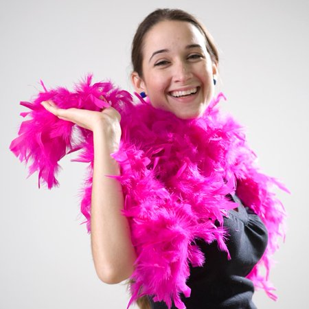 Hot Pink Feather Boa](Gold Feather Boas)