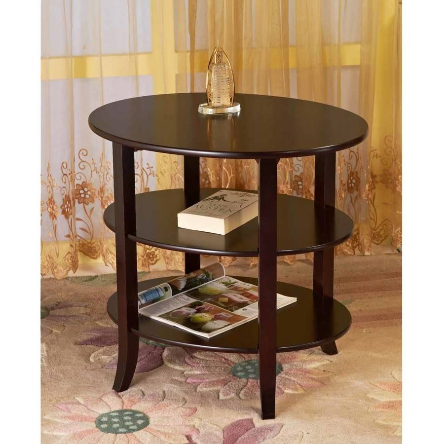 Home Craft 3-Tier Oval End Table