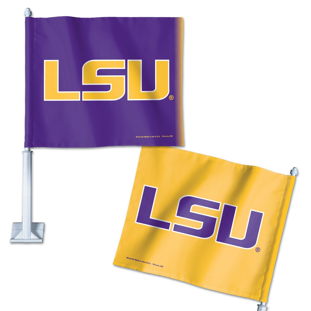 LSU Tigers Official NCAA 14 inch  Car Flag by WinCraft