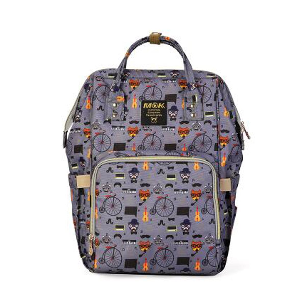 048 Purple Backpack Multifunctional Mummy Baby Diaper Nappy Changing Bags Backpack Handbag 048