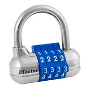 Master Lock Padlock 1523D Set Your Own Combination with Colored Dials, 2-1/2 in. Wide, Assorted Colors