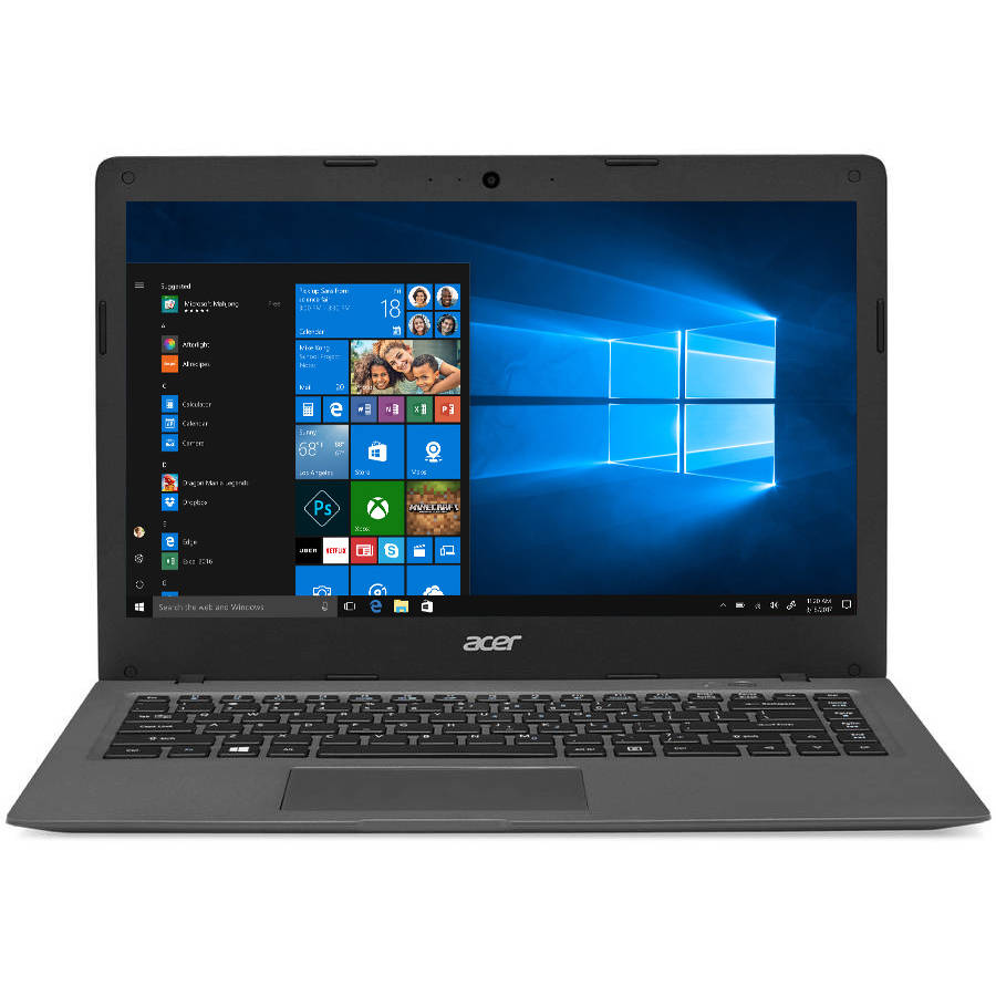 """Acer Mineral Gray 14"""" Aspire One Cloudbook AO1-431-C8G8 Laptop PC with Intel Celeron N3050 Processor, 2GB Memory, 32GB eMMC, Windows 10 and Office 365 Personal 1-year included"""