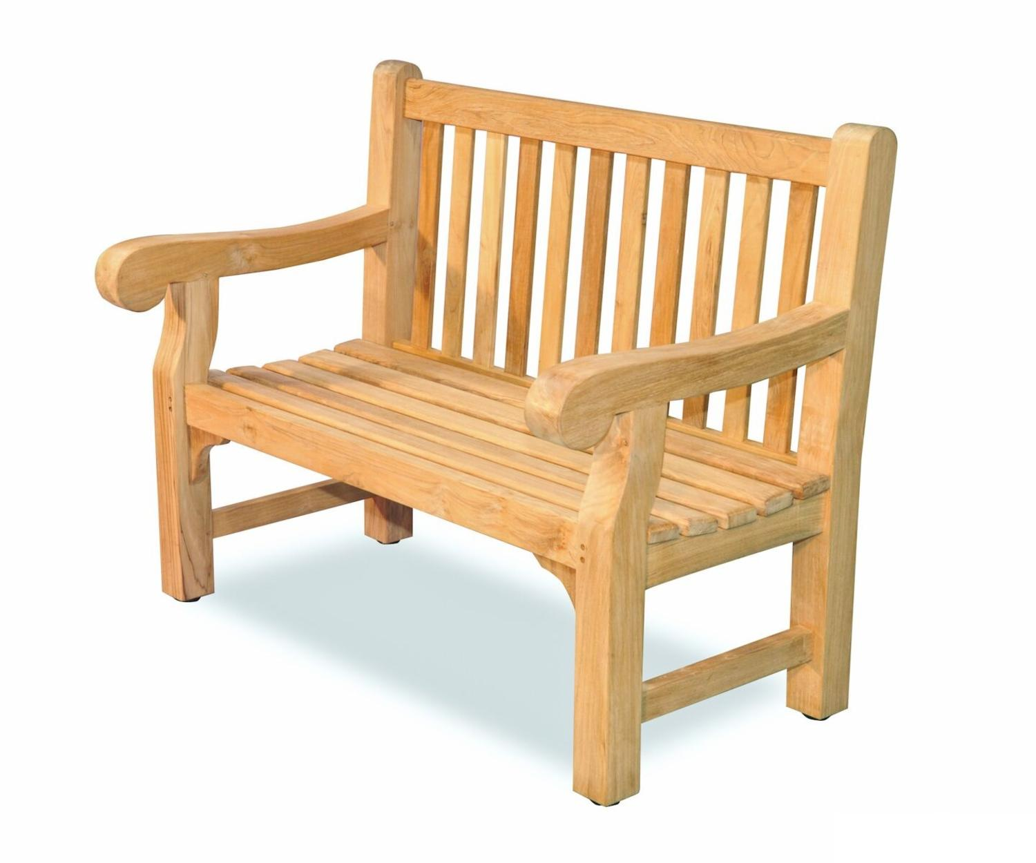 """48"""" Natural Teak Outdoor Patio Hyde Park Inspired Wooden Bench by Eco-Friendly Furnishings"""