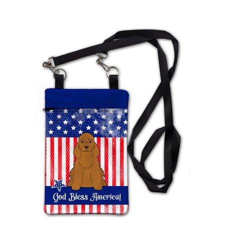 Patriotic USA Cocker Spaniel Red Crossbody Bag Purse BB3090OBDY