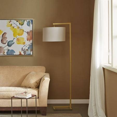"68"" Delta Floor Lamp (Includes LED Light Bulb) Gold"