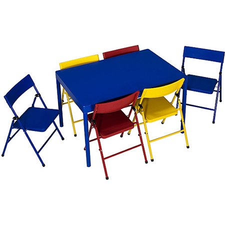 safety 1st 7 piece children 39 s table and chairs set. Black Bedroom Furniture Sets. Home Design Ideas