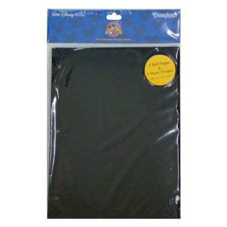 Disney Parks Exclusive Pin Trading 3-Ring Binder Album Black Refill & Divider Pages - Disney Halloween Album