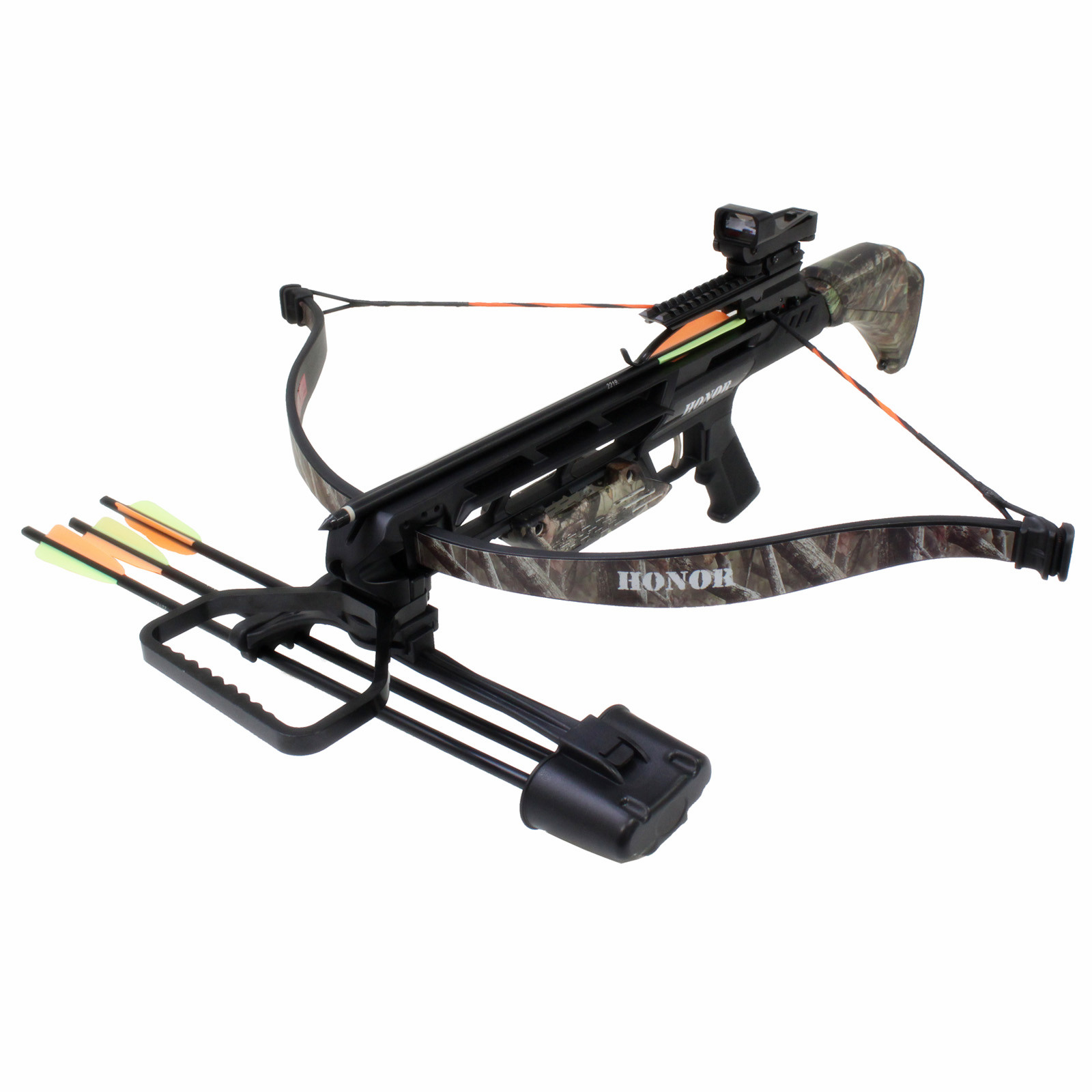 SAS Honor 175 lbs Recurve Crossbow Red Dot Scope Package ...