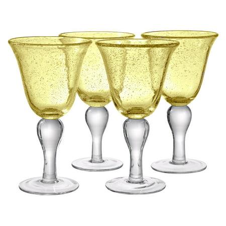 Artland Inc. Iris Citrine Goblet Glasses - Set of 4