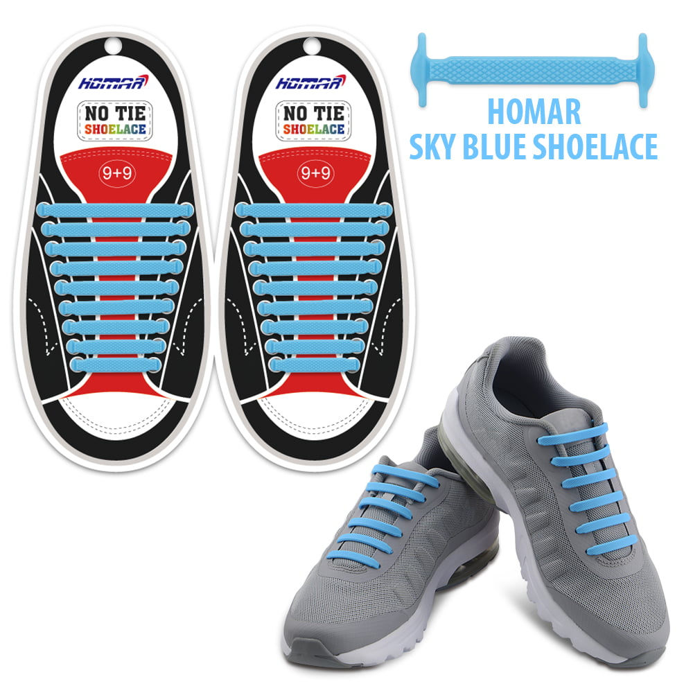 Easy No Tie Silicon Elastic Shoe Laces Colored Trainers Snickers Kids Adults u